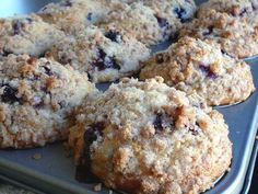 These were great, even without the topping. I subbed whole wheat flour and reduced cinnamon.   Baked Perfection: Bakery Style Blueberry Muffins