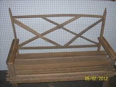 tobacco stick garden bench
