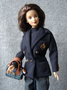 A close up of the RL Barbie, not only do i have the outfit I also have blue eyes, just wish I looked like her!