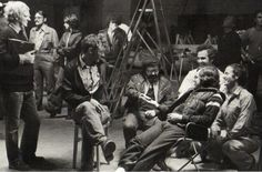"""Harrison Ford, Steven Spielberg, etc   on the set of """"Raiders of the Lost Ark"""" (1981)"""