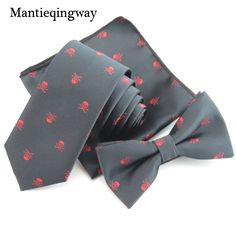 Necktie Bowtie Handkerchief Sets Skull //Price: $14.38 & FREE Shipping Over 180 countries //    #ties