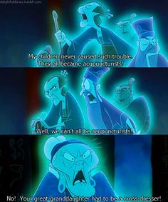 lol this is why I love Mulan