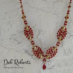 Marquise Necklace beaded pattern tutorial by Deb Roberti