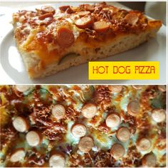 Hot Dog Pizza ☆ Hefeteig  (frisch oder fertig) auf einem gefetteten Blech ausrollen ☆ mit Heinz Tomatenketchup, Remoulade und etwas Senf bestreichen ☆ mit Gurken, Zwiebeln, Röstzwiebeln und Käse betreuen ☆ Würstchenscheiben ( aus Fleisch oder vegetarisch ) darüber verteilen ☆ 15-18min bei 200°C im vorgeheizten Ofen backen ☆Guten Appetit☆