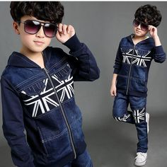 2016 Clearance Sale Boys Winter Denim Sports Suit Brand England Style Kids Union Flag Children Tracksuit Boys Clothing Set C051 -  Buy online 2016 Clearance Sale Boys Winter Denim Sports Suit Brand England Style Kids Union Flag Children Tracksuit Boys Clothing Set C051 only US $18.89 US $17.00. This shopping online sellers give you the best deals of finest and low cost which integrated super save shipping for 2016 Clearance Sale Boys Winter Denim Sports Suit Brand England Style Kids Union…
