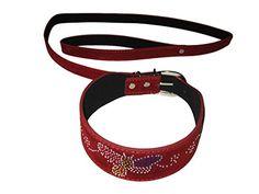 Saphira toys. Rot Halsband mit Leine Bondage BDSM. collar leash strass
