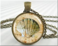 Seashell Art Necklace Art Pendant Seashell Jewelry Beach Necklace Picture Pendant (031RB)