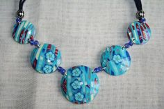 Stroppel fleuri bleu