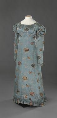 1820er, vermutlich Tageskleid, aus Seide, Norwegen