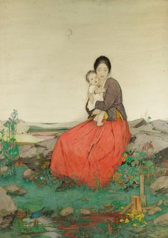 Dorothy Webster Hawksley - Mother and Child