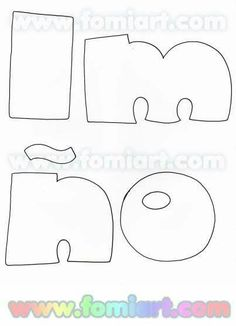 Alphabet Templates, Bubble Letters, Letter J, Alphabet And Numbers, Pen And Paper, Wall Murals, Coloring Pages, Stencils, Applique