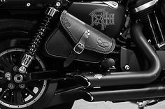 SADDLE BAGS LEFT&RIGHT SIDE FOR HARLEY DAVIDSON SPORTSTER MODELS ITALIAN QUALITY