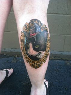 cat tattoo, this style but with samantha
