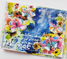 Susanne Rose Designs: Intuitive Art Journal Page - Process Video