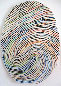 The artwork of Cheryl Sorg: Short Stories: Thumbprint Portrait | The Etsy Blog.