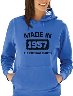 Made In 1957 60Th Birthday Gift Idea Women Hoodie Retirement Present