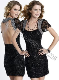 so unique!  Love the cap sleeves, yet the open back gives it a sexy look! Scala fall 2012 4746 $158 #wedding #formal #graduation #homecoming #dresses #fashion