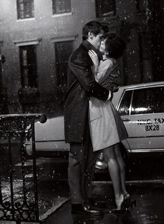 Kissing in the rain. #romance #love #couple