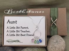 A personal favorite from my Etsy shop https://www.etsy.com/listing/478244906/gifts-for-aunt-necklace-mothers-day-gift