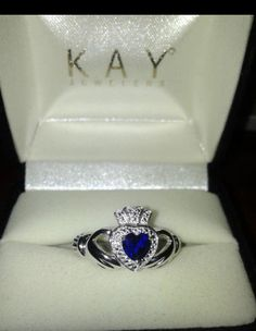 Sapphire Claddagh Anniversary ring