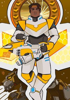 Hunk the Yellow Paladin of Voltron from Voltron Legendary Defender