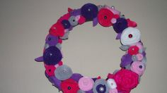 Rosettes and Pearls Wreath by melanieswartz on Etsy, $35.00