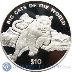 2001 Big Cats of the World Cougar Proof Gold and Silver 2 Coin Set http://www.gainesvillecoins.com/