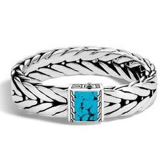 John Hardy Mens Modern Chain Bracelet with Black Sapphire uarfStMvMd