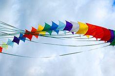 Rainbow Stunt Kites