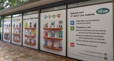 As a virtual store can be published almost anywhere, creative solutions will almost always catch the eye. What about a huge book in the middle of a school yard, sports clothing posters in changing rooms and a cut-out of a beautiful mug with a QR Code on it?