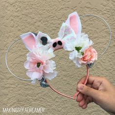 Pua Ears | Pua the Pig | Moana | Wire Ears | Mouse Ears | Pua Inspired by makingsofadreamer on Etsy https://www.etsy.com/listing/519554742/pua-ears-pua-the-pig-moana-wire-ears