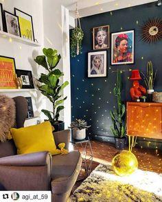 Home Interior Living Room .Home Interior Living Room Living Room Designs, Living Spaces, Living Rooms, Bold Living Room, Colourful Living Room, Coastal Living, Deco Retro, Decoration Inspiration, Decor Ideas