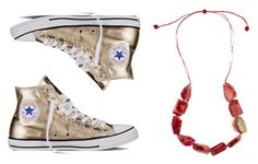 """SHOEADAY // Golden Converse... Need we say more..."" by rubyolive on Polyvore featuring Converse"