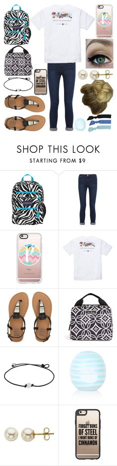 """""""Monday: First Day of School"""" by xo-arissa-xo ❤ liked on Polyvore featuring JanSport, Frame Denim, Casetify, Southern Proper, Billabong, Vera Bradley, Topshop, Lord & Taylor, Splendid and arissacreations"""
