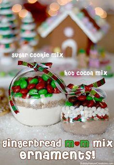 Pan de jengibre de M & M (mezcla de adornos de galletas de azúcar y cacao caliente)