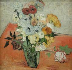 ©Vincent van Gogh - Natura morta, vaso giapponese con rose e anemoni (1890)