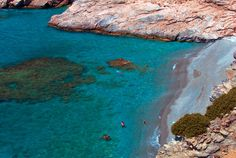 MOUROS BEACH, AMORGOS Desktop Pictures, Greek Islands, Colorful Pictures, Amazing Places, The Good Place, Natural Beauty, Greece, Beach, Water