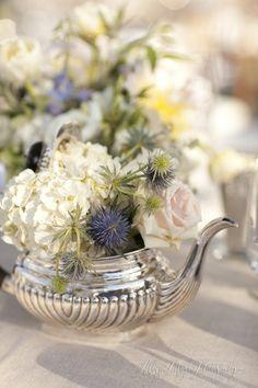 Flower teapot vase.