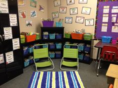 second grade bulletin board ideas | This is my Read to Self area. I love the chairs (Target) and rug ...