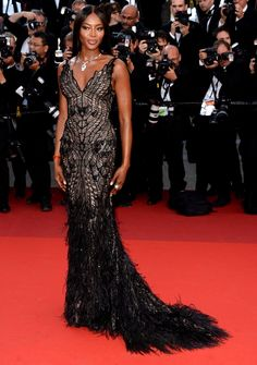 Naomi Campbell at the 70th Anniversary Celebration of the Cannes International Film Festival