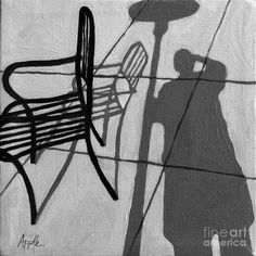 shadow challenge self-portrait--cafe-shadows-painting-linda-apple Shadow Painting, Shadow Drawing, Ap Drawing, Illustration Art Drawing, Shadow Art, High School Art Projects, Value In Art, Ap Studio Art, Surreal Photos
