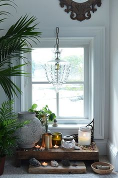Sacred Space // Altar + decor // Ideas + inspiration for the bedroom, at home + outdoors // How To Bring The 5 Feng Shui Elements Into Your Home | Free People blog