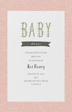 """Blooming Baby - Guava"" Invitation, by Mr. Boddington's Nephew, Paperless Post"