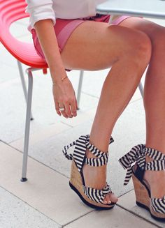 Stripe Wedges / shoemint