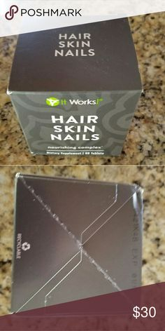 It Works Hair Skin Nails Dietary supplement.  Never opened. 60 tablets. Other