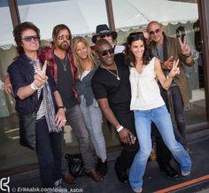 With Billy Ray Cyrus, Tish Cyrus, John Varvatos + Joyce Varvatos & Friends in Hollywood