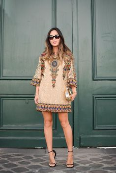 The Best of Paris Fashion Week Street Style (Updated!) The Best of Paris Fashion Week Street Style (Updated!): Fashion Month moves pretty fast — especially [. Fashion Week Paris, Trend Fashion, Boho Fashion, Fashion Outfits, Womens Fashion, Style Fashion, Look Boho, Bohemian Mode, African Fashion Dresses
