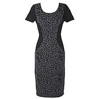 Joanna Hope Animal Jacquard Insert Dress - Large Size Clothing - www.plussizedglamour.co.uk