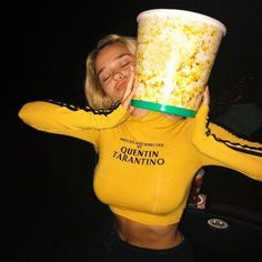 black and yellow quentin tarantino top so aesthetic tumblr grunge basic fashion outfit cinema girl woman night date film