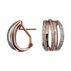 Diamond Earring - rose gold setting